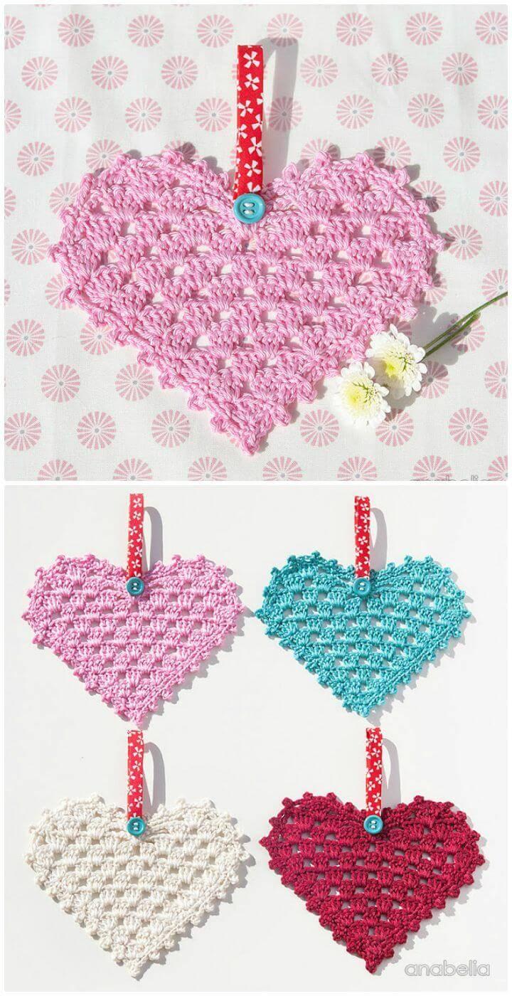 Crochet Granny Hearts - Free Pattern