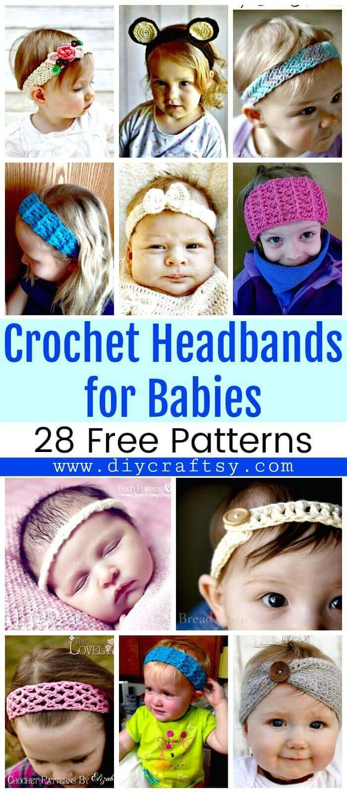 Crochet Headbands for Babies - 28 Free Patterns