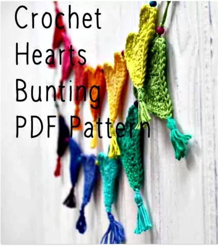 Free Crochet Heart Bunting for Little Hearts Matter Pattern