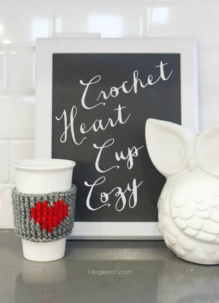 Crochet Heart Cup Cozy - Free Pattern