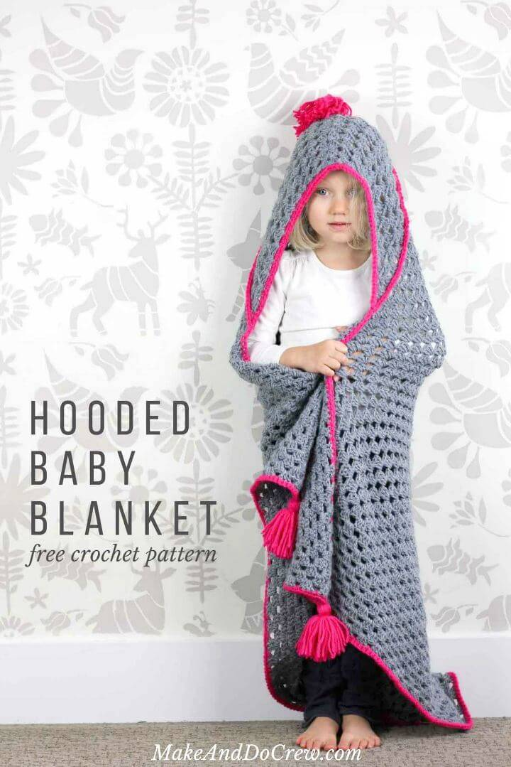 Easy Crochet Hooded Baby Blanket – Free Charity Pattern