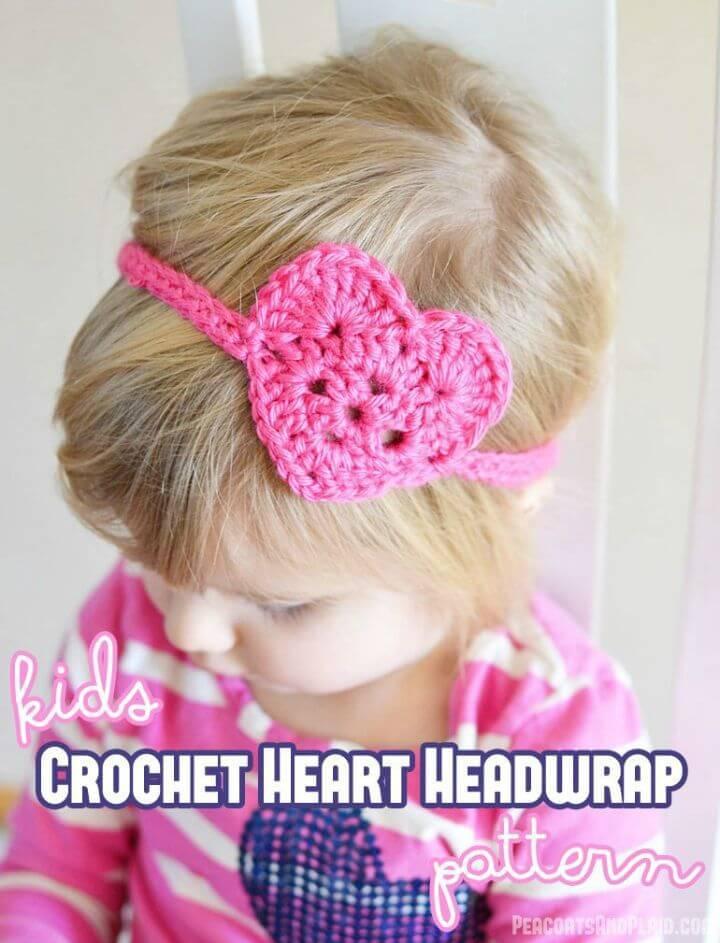 Crochet Kid'S Heart Headwrap - Free Pattern