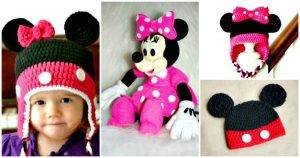Crochet Mickey Mouse Patterns - Crochet Mickey Mouse Hat