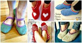 Crochet Slippers Pattern- 62 Free Crochet Patterns - DIY Crafts
