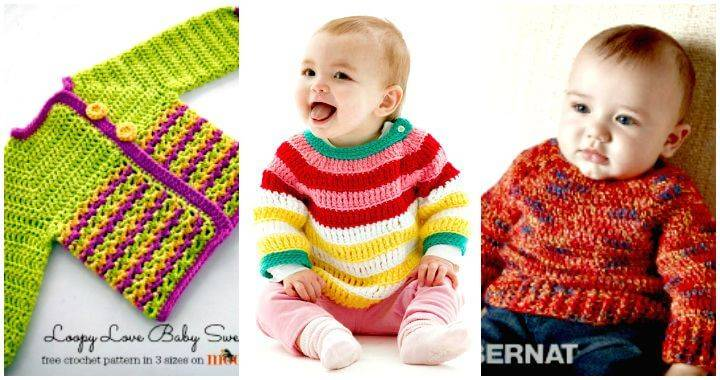 Crochet Sweater Patterns for Babies