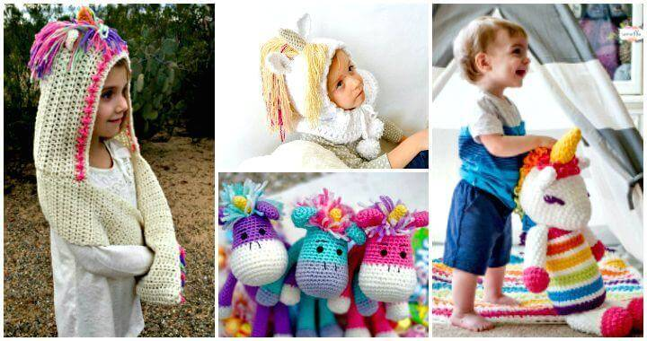 Crochet Unicorn Pattern- 32 Free Crochet Patterns - DIY Crafts