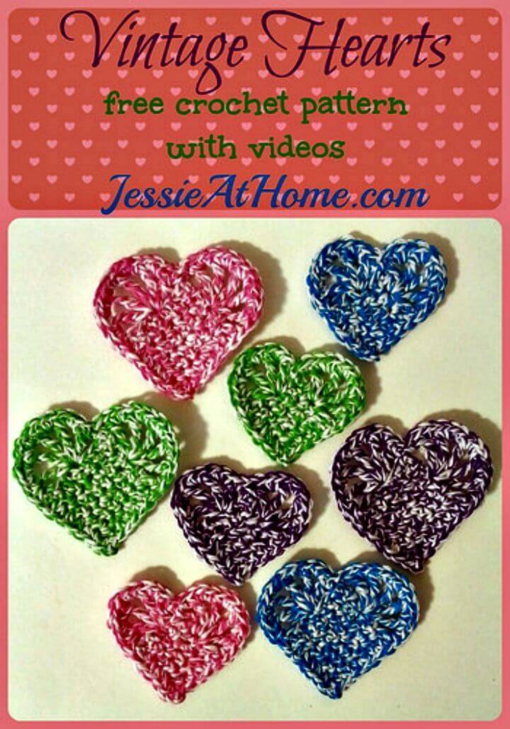 Crochet Vintage Hearts - Free Pattern