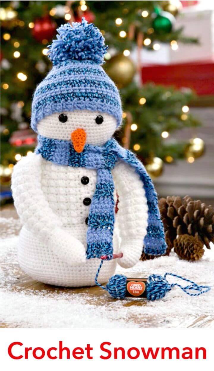 Free crochet snowman pattern - Amigurumi Today | 1250x720