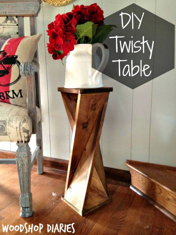 Cute DIY Twisty Table