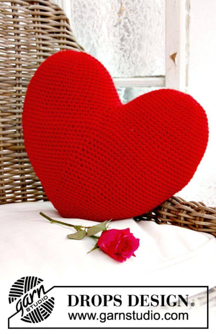 Cute Free Crochet Red Heart Pattern
