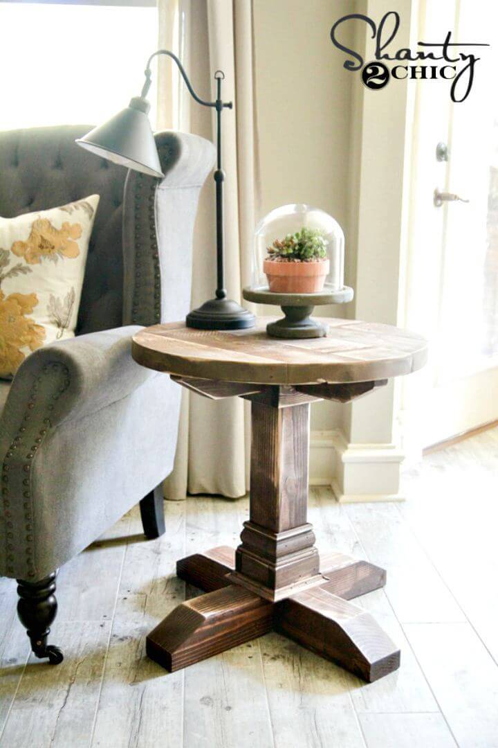 DIY Round Side Table Under $30