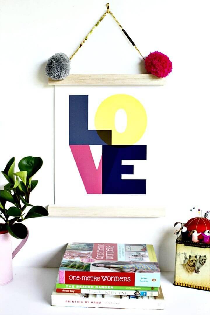 DIY Art Print Frame In 5 Minute
