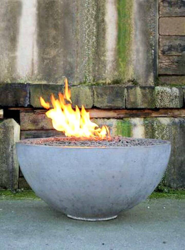 How To Build A Concrete Fire Pit Bowl Tutorial