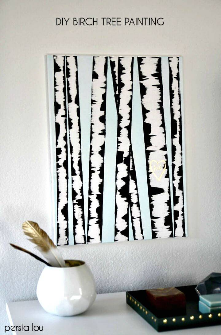 Easy DIY Birch Tree Wall Art Tutorial