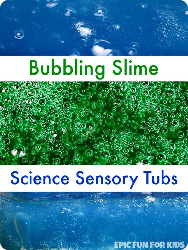 Easy DIY Bubbling Slime Recipe For Sensory Tubs Tutorial