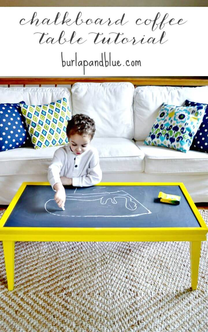 Easy DIY Chalkboard Coffee Table