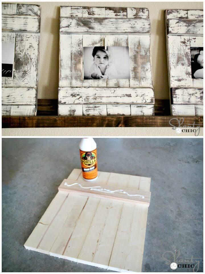 DIY Chippy Wood Frames Tutorial