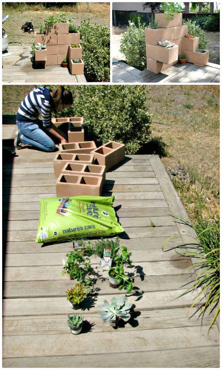 Easy DIY Cinder Block Planter Idea - Free Tutorial