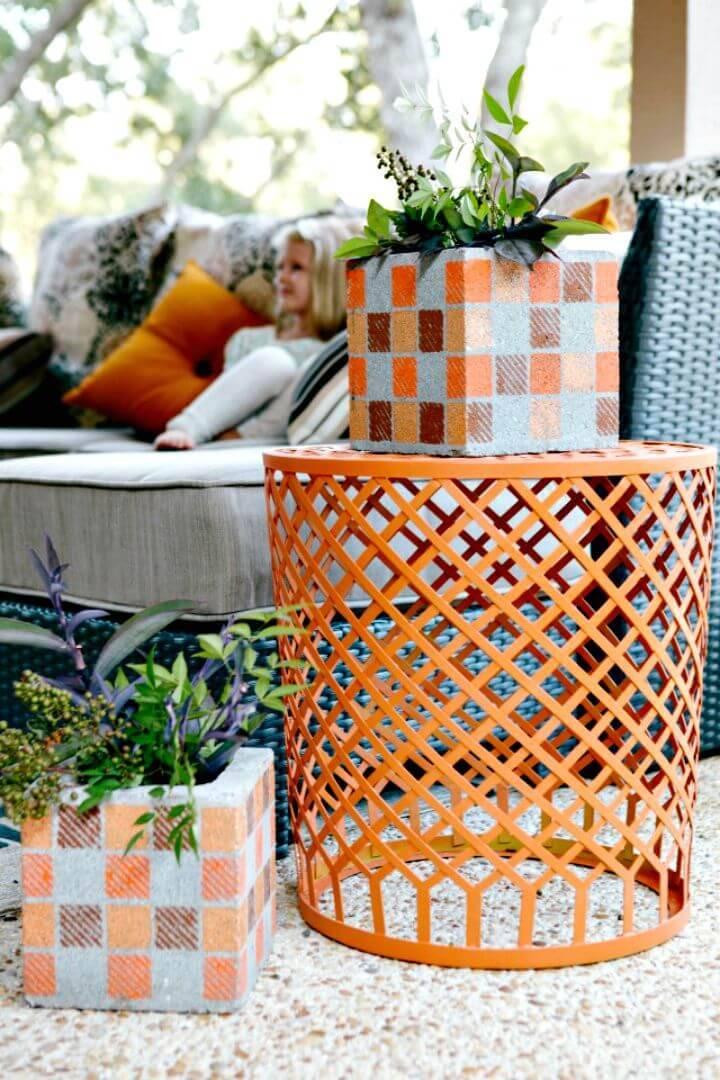 DIY Cinder Block Vases Planters - Free Tutorial