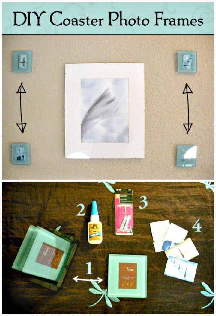 How To DIY Coaster Picture Frames Tutorial