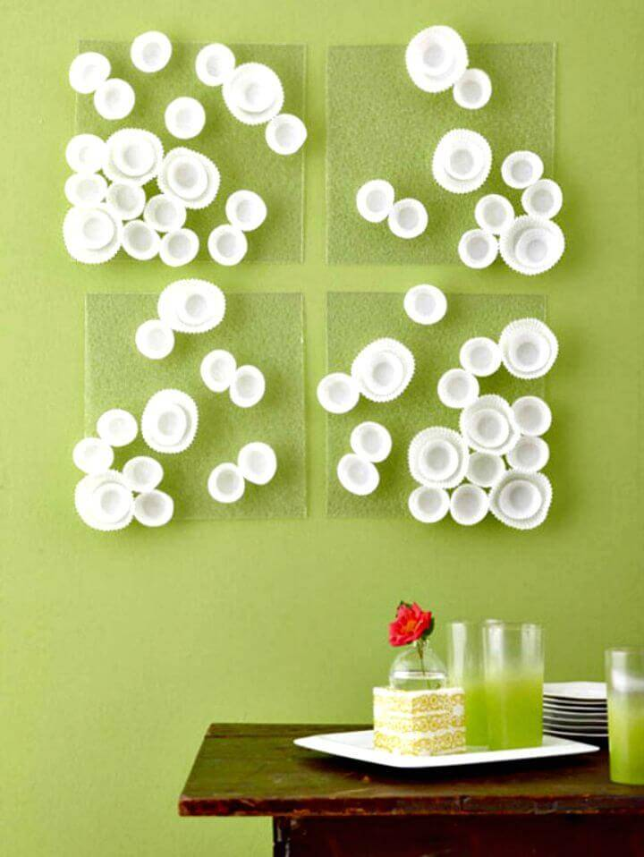 Easy DIY Cupcake Wrappers Wall Art Tutorial