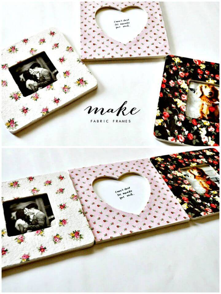 How To Make Your Own Fabric Photo Frames