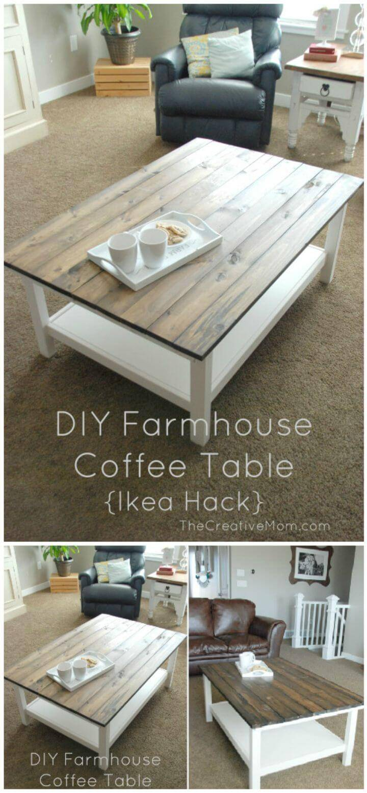 DIY Farmhouse Coffee Table - Step By Step Tutorial