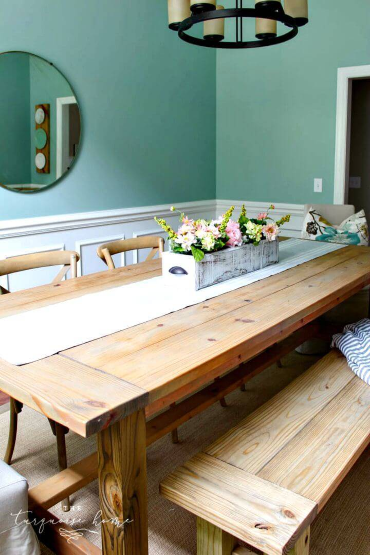 How To Build Farmhouse Table Tutorial