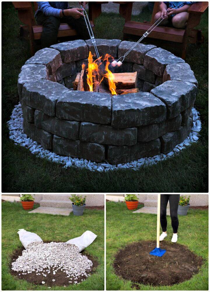 Easy DIY Fire Pit - Build It In Just 7 Easy Steps