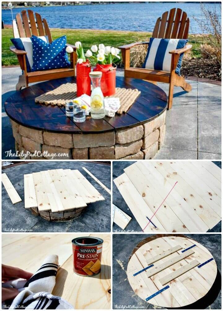 Easy DIY Fire Pit Table Top Tutorial