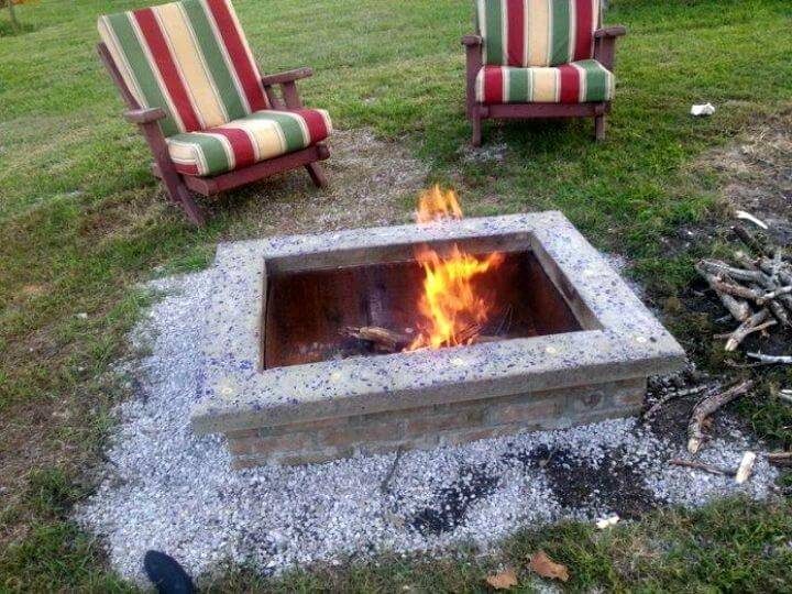 DIY Fire Pit With Custom Cap Stone