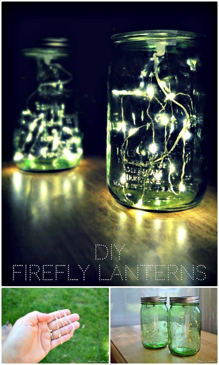 Easy DIY Firefly Mason Jar Lights - Free Tutorial