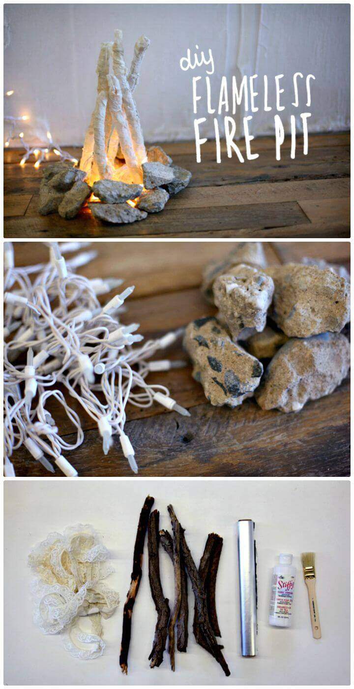 Easy DIY Flame Less Fire Pit Tutorial