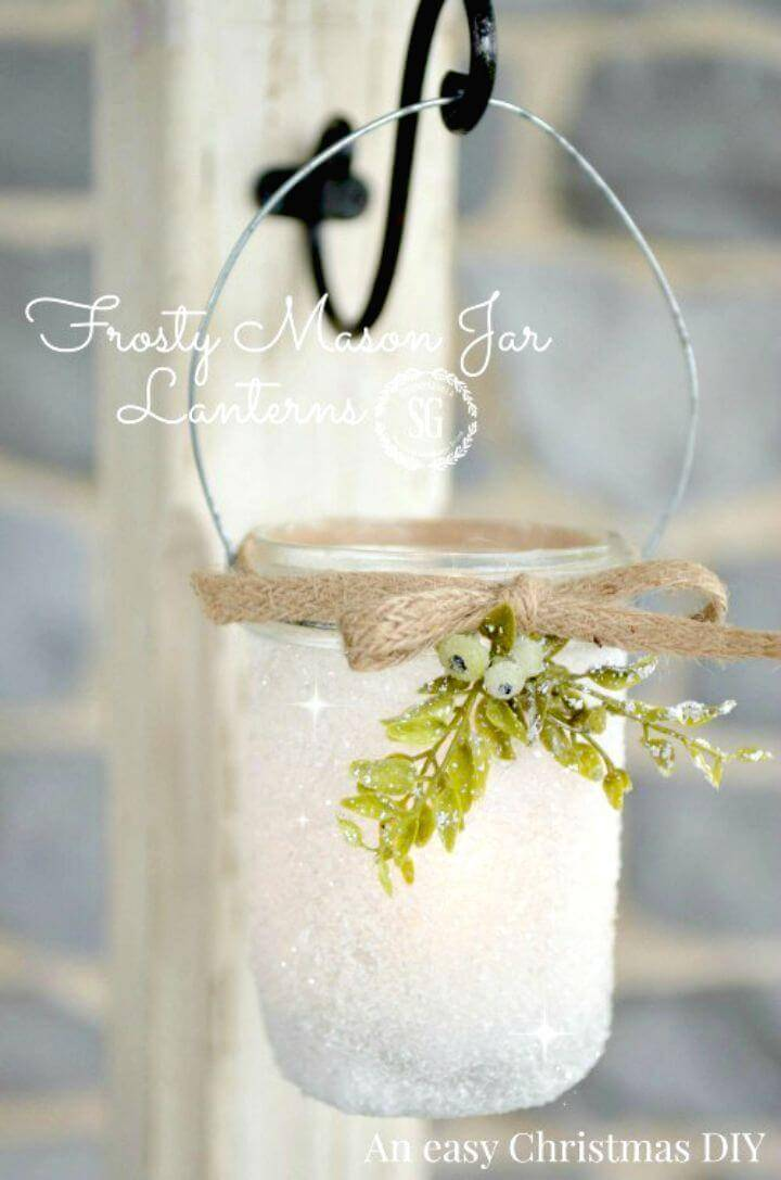 Make Frosty Mason Jar Lanterns - DIY Mason Jar Crafts