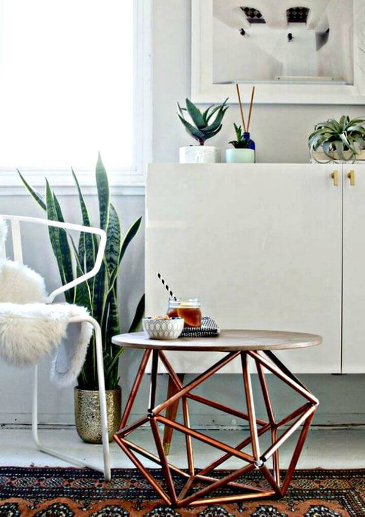 Easy DIY Geometric Copper Side Table