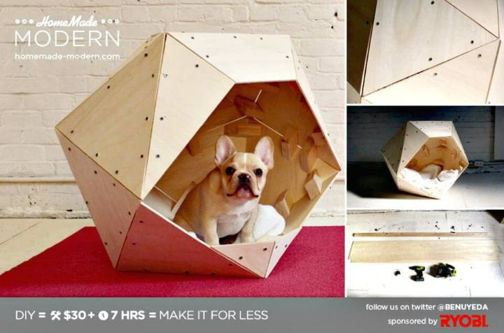 Easy DIY Geometric Doghouse Tutorial