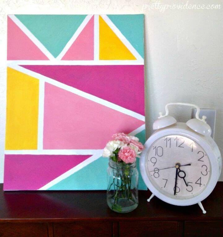 Easy DIY Geometric Wall Art Tutorial