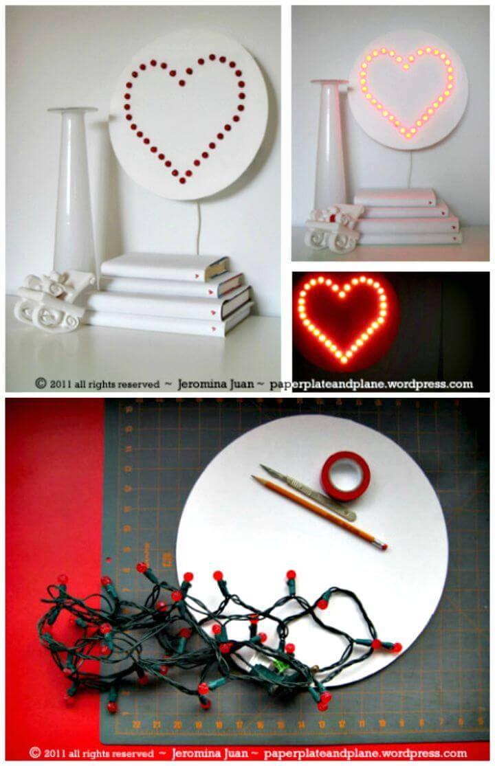 Easy DIY Heart Wall Lamp Tutorial