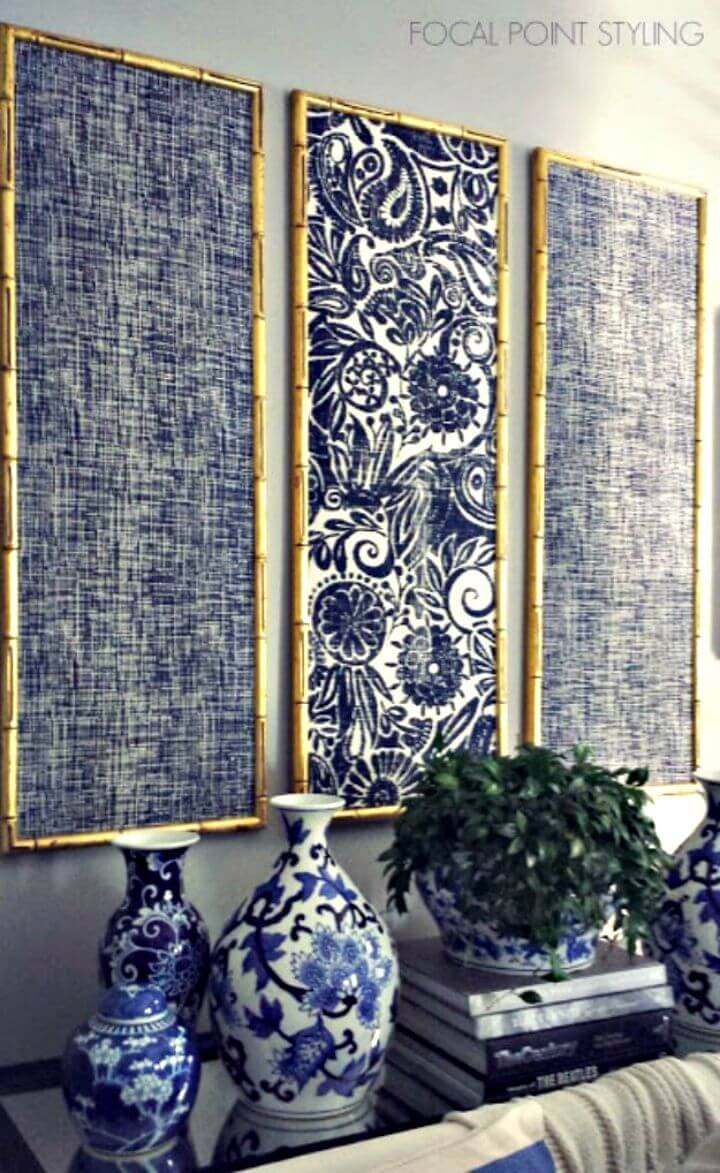 How To Design Indigo Wall Art With Framed Fabric