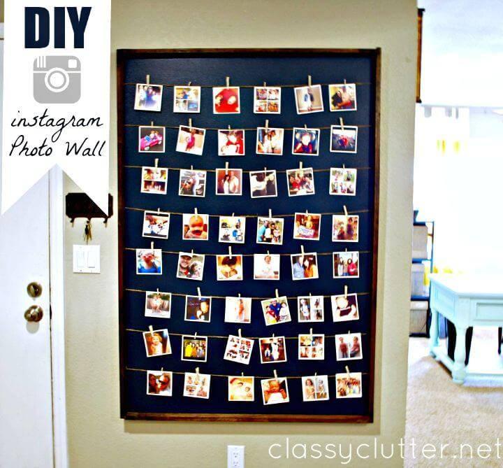 Easy DIY Instagram Photo Wall Display