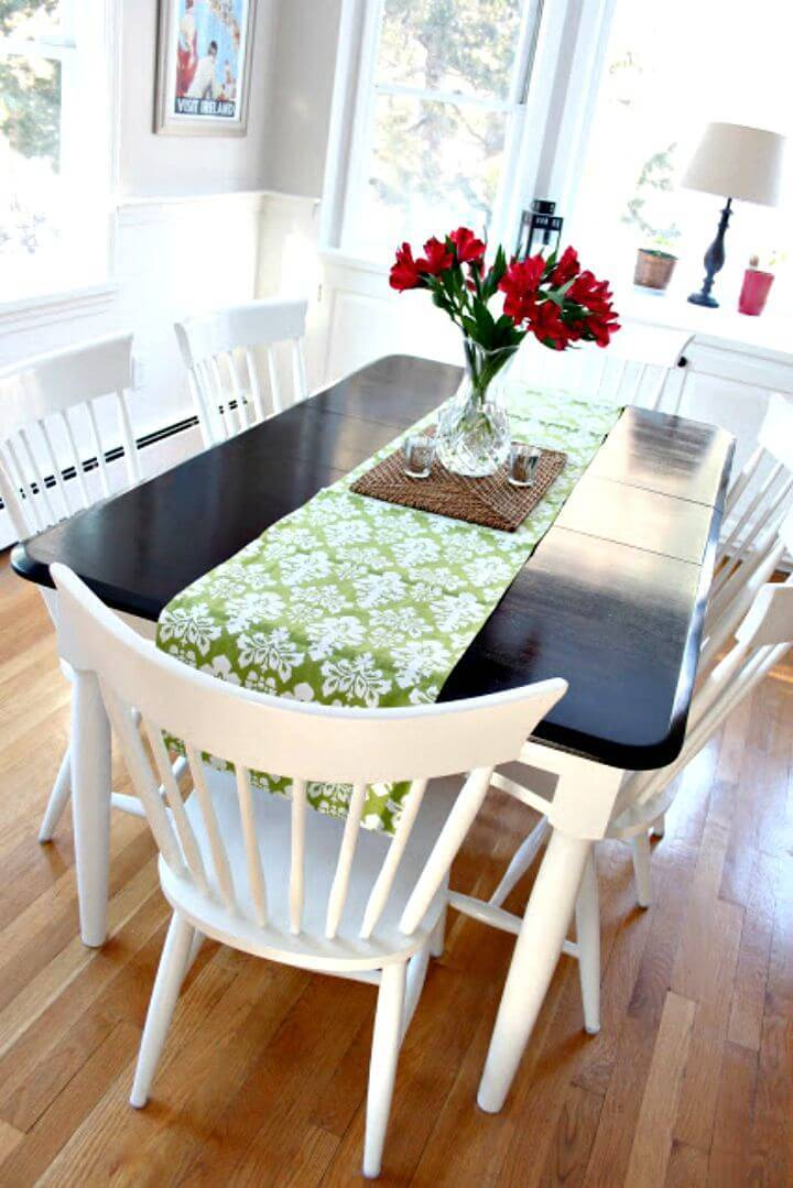 DIY Kitchen Table Makeover - Free Tutorial