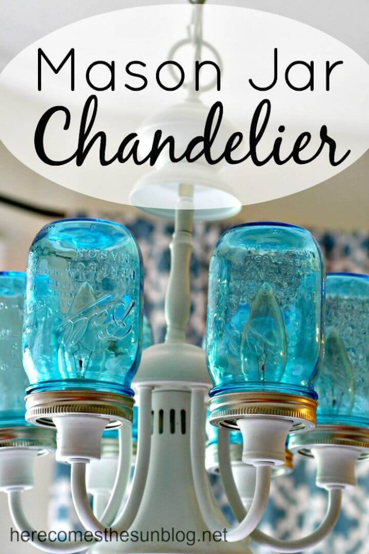 Easy DIY Mason Jar Chandelier - Free Tutorial