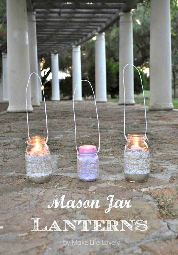 How To DIY Mason Jar Lanterns - Homemade Lights