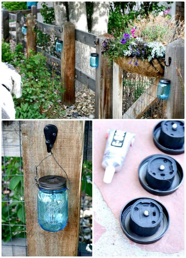 Easy DIY Mason Jar Solar Light - Step By Step Free Tutorial