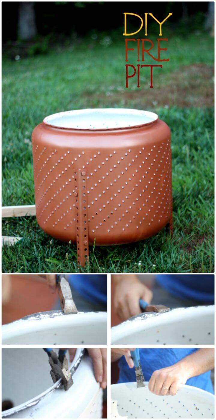 Easy How To DIY Metal Fire Pit Tutorial