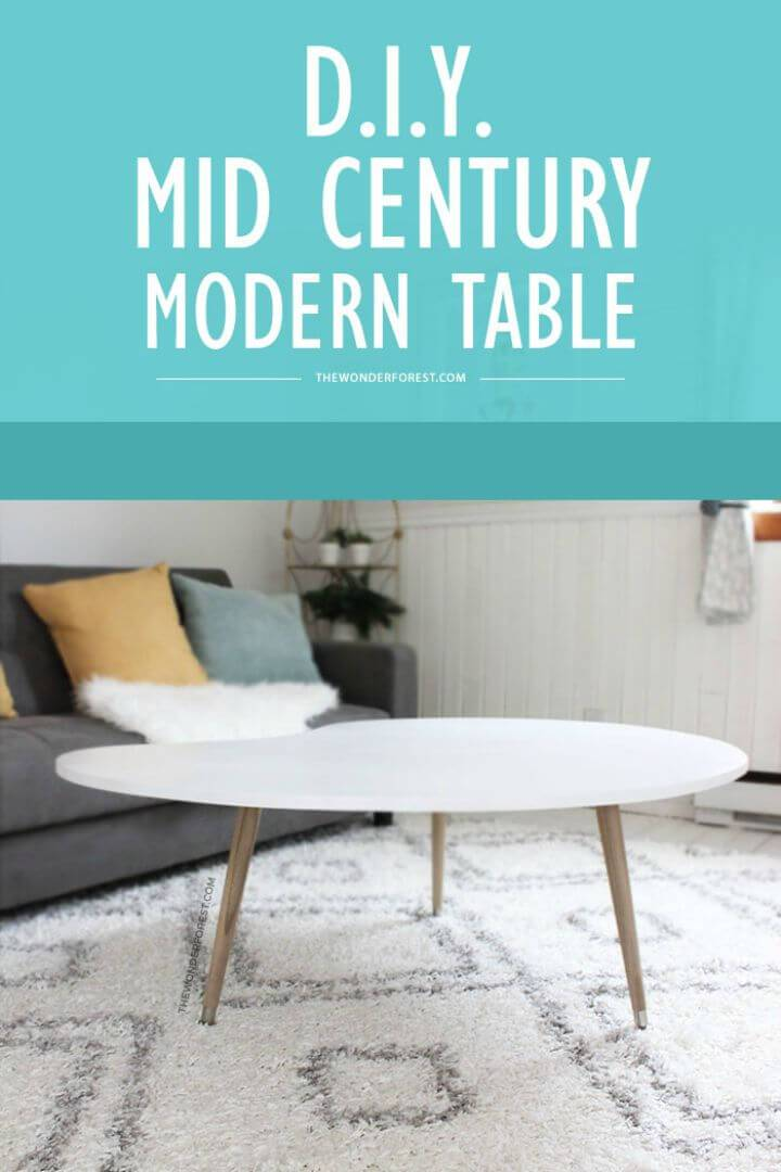 How To Build Mid Century Modern Coffee Table