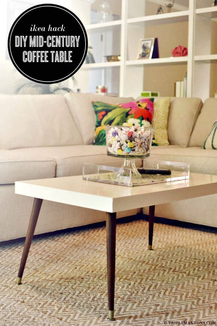 Easy DIY Mid-Century Modern Coffee Table