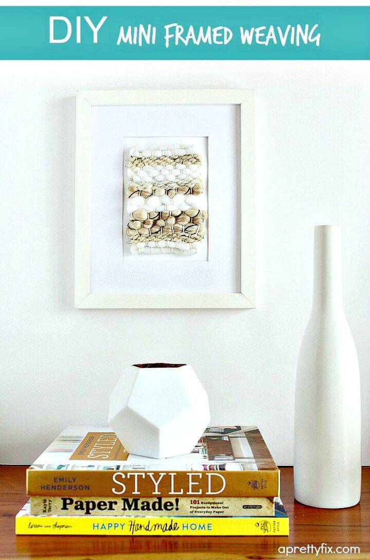 Easy DIY Mini Framed Weaving Wall Art Tutorial