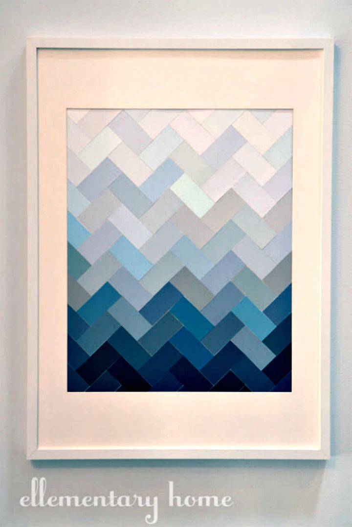 DIY Paint Chip Ombre Herringbone - Free Tutorial
