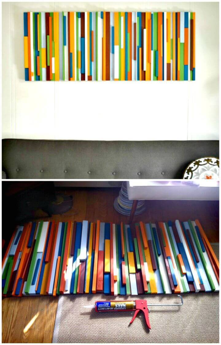 How To Make A Painted Wood Wall Art Tutorial